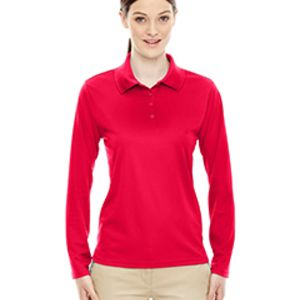 Ladies' Pinnacle Performance Long-Sleeve Piqué Polo Thumbnail