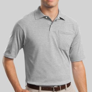 SpotShield ™ 5.6 Ounce Jersey Knit Sport Shirt with Pocket Thumbnail