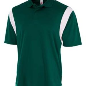 Men's Color Blocked Polo Shirt w/ Knit Collar Thumbnail