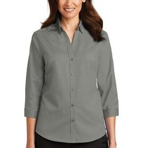 Ladies 3/4 Sleeve SuperPro ™ Twill Shirt Thumbnail