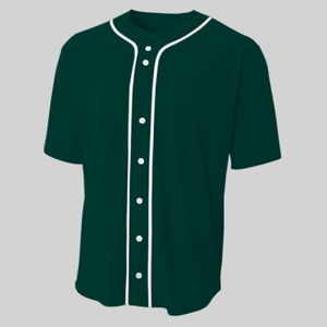 Shorts Sleeve Full Button Baseball Top Thumbnail